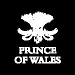 Prince of Wales Logo Negative